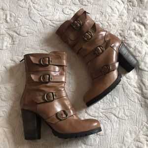 Free people buckle moto boot size 39 never worn